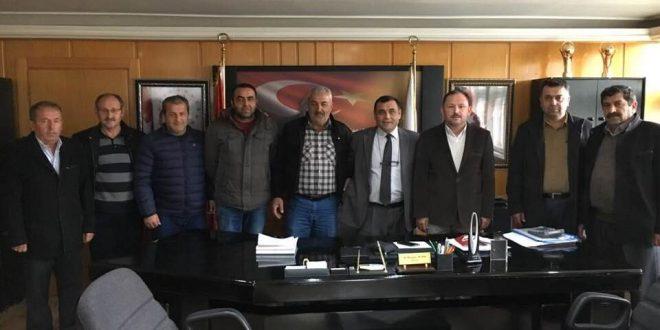 AK PARTİ ALMUS İLÇE BAŞKANINDAN BELEDİYE BAŞKANIMIZA ZİYARET..