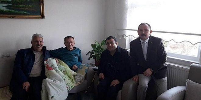 BELEDİYE BAŞKANIMIZ MEMDUH MİRZAOĞLU'NU ZİYARET ETTİ..