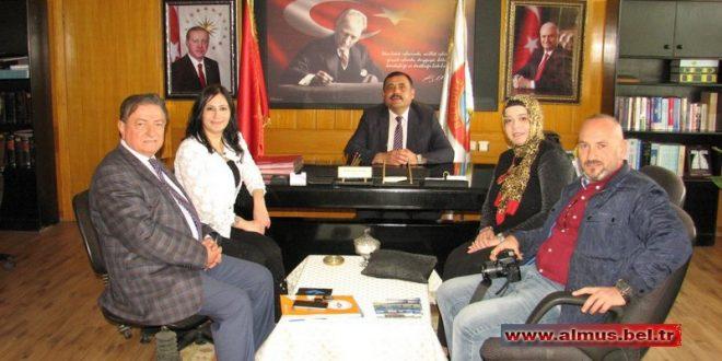 TÜM TOKATLILAR KONFEDERASYONU BAŞKANI BELEDİYEMİZİ ZİYARET ETTİ..