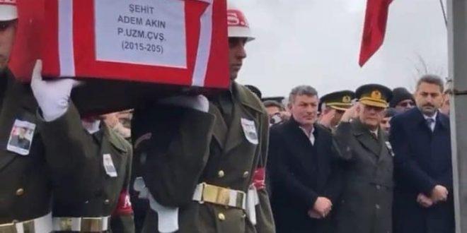 BELEDİYE BAŞKANIMIZ ŞEHİT CENAZESİNE KATILDI..